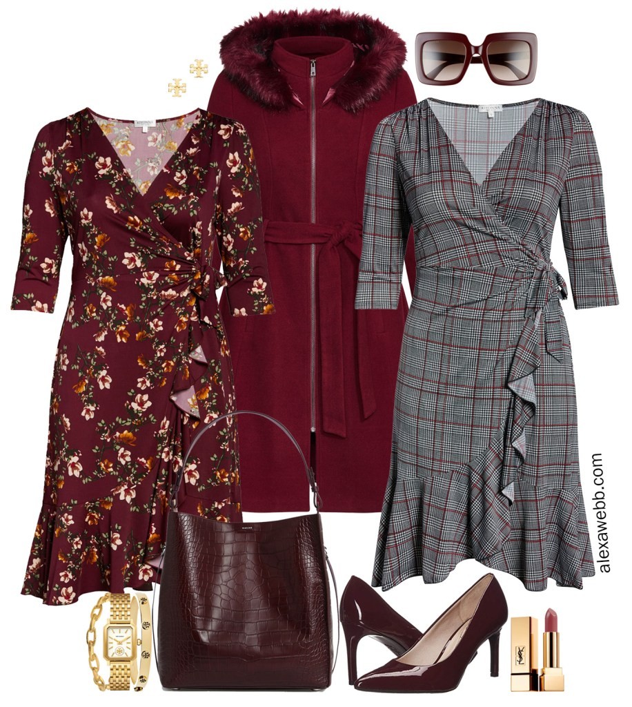 Plus Size Wrap Dress for Fall - Plus Size Workwear - alexawebb.com #plussize #alexawebb