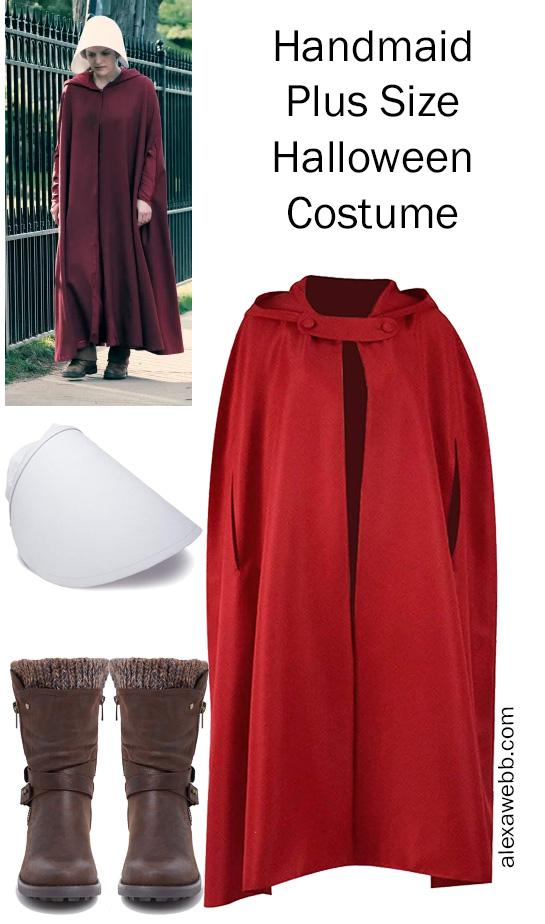 Plus Size Halloween Costume 2019 - Handmaid from Handmaid's Tale - alexawebb.com #plussize #alexawebb