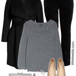 Plus Size Sparkle Holiday Outfit for Christmas Parties or New Year's Eve - Alexa Webb
