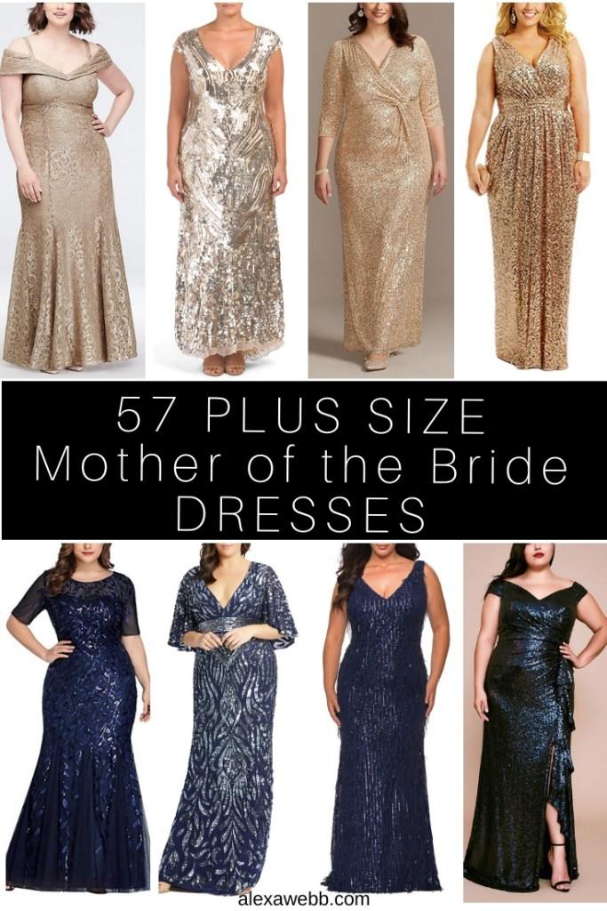 57 Plus Size Mother of the Bride Dresses - Plus Size Mother of the Groom Dress - Alexa Webb #alexawebb