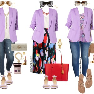 Plus Size Lavender Blazer Outfit Ideas for Date Night, Work, and Casual Weekends - Plus Size Fashion for Women - Alexa Webb #plussize #alexawebb
