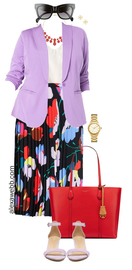 Plus Size Spring Work Outfit idea with Lavender Blazer - Plus Size Fashion for Women - Alexa Webb #Plussize #alexawebb