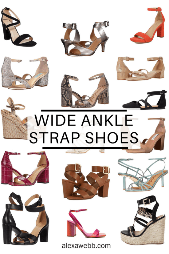 Tips for Shopping for Shopping for Wide Ankle Strap Shoes and Where to Buy Them. Alexa Webb #plussize #alexawebb