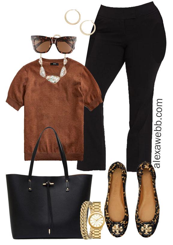 Plus Size Work Outfit with Black Pants - Alexa Webb #alexawebb #plussize