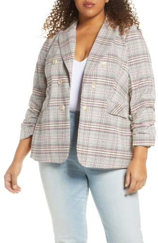 Plus Size Plaid Blazer Styled 3 Ways - Fall Outfit Ideas - Alexa Webb #plussize #alexawebb