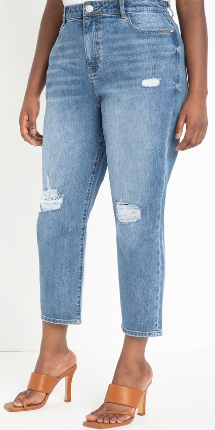 Plus Size Jeans for Inverted Triangle Shapes - Alexa Webb #plussize #alexawebb