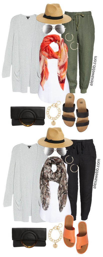 Plus Size Linen Joggers Outfit Ideas for Summer 2021 - Alexa Webb