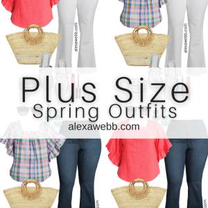 Plus Size Spring Style with Walmart - Plus Size Spring Outfit Ideas - Alexa Webb