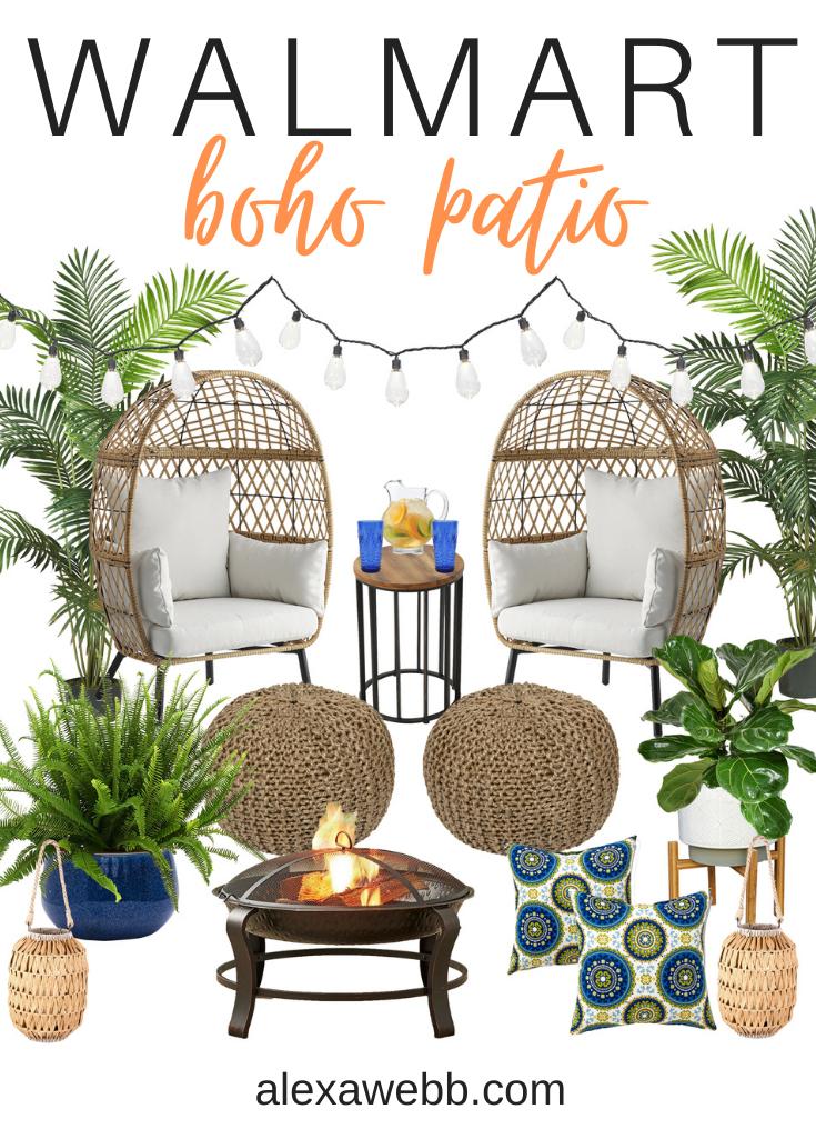 A boho patio makeover with Walmart - Summer Outdoor Ideas - Alexa Webb