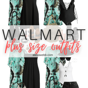 Plus Size Boho Outfits with a plus size tie-dye kimono for summer and vacation styled 4 ways. Alexa Webb