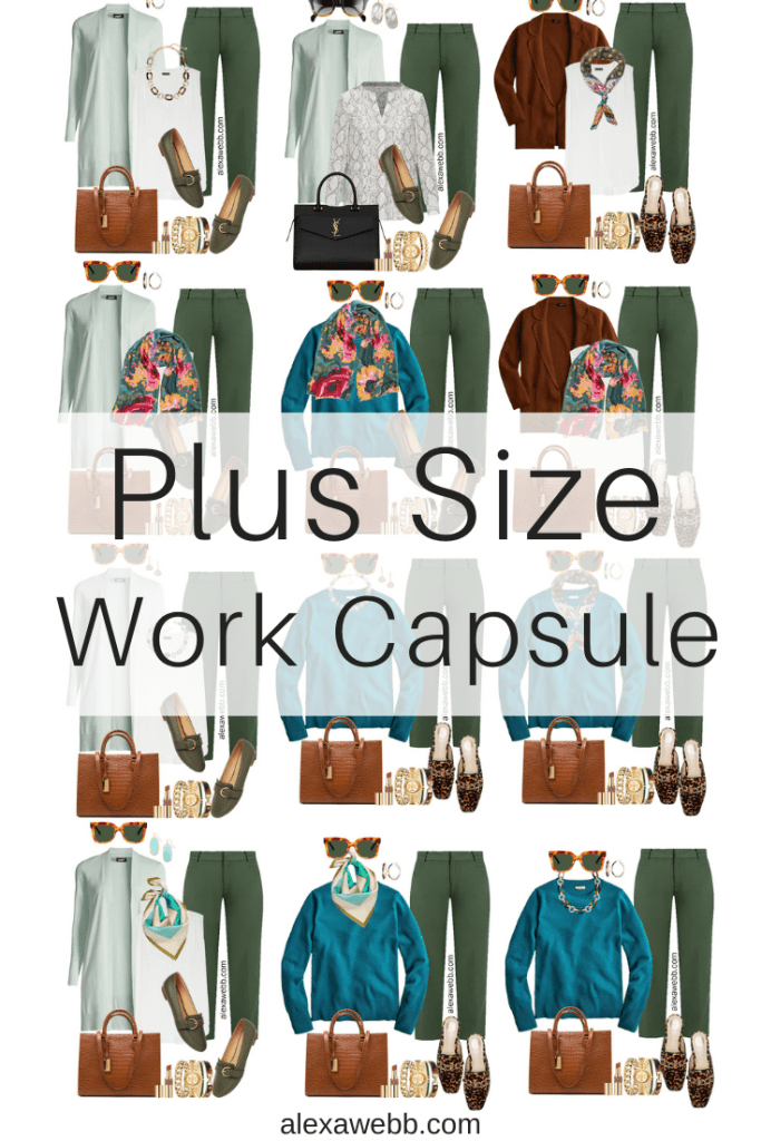 2021 Plus Size Fall Work Capsule Wardrobe by Alexa Webb. This is just part one of a series.