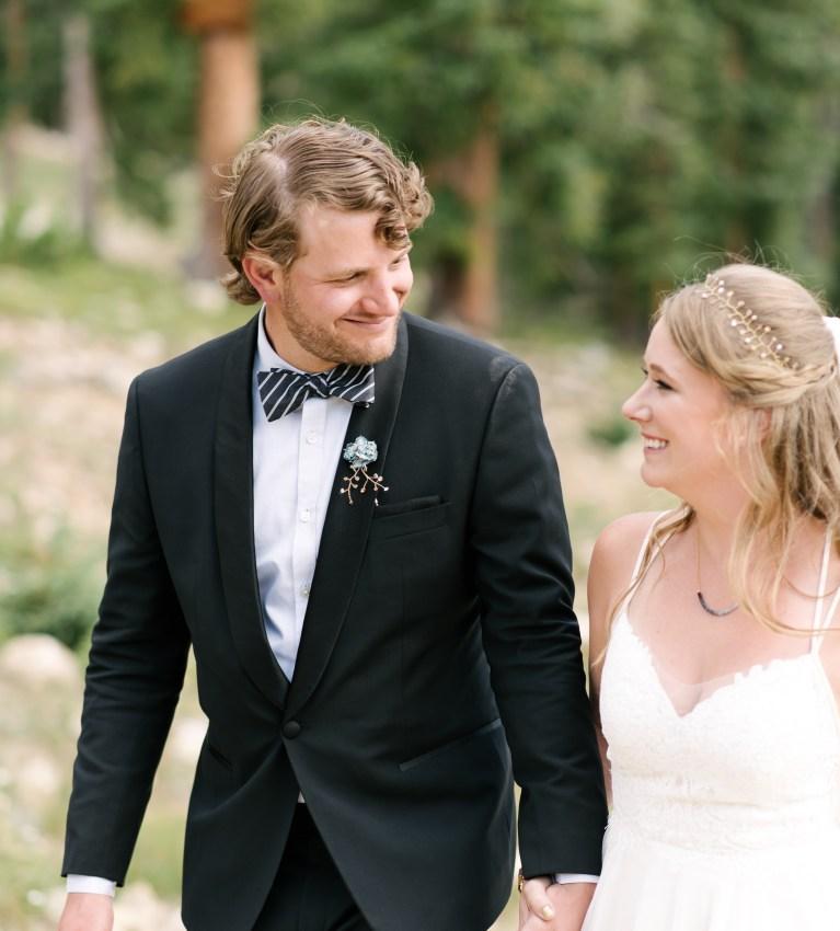 Alex Good | Intimate Weddings and Adventurous Elopement Photography | Keystone Colorado Mountain Elopement | Milwaukee Photographer | BHLDN Dress