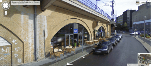 View of the same viaduct from street level. Image from Google Streetview.