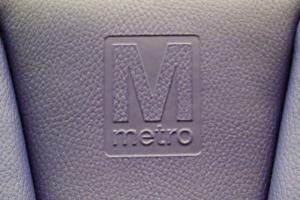 WMATA logo on a 7000-series seat. Creative Commons image from Kurt Raschke.