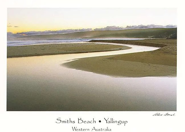 Smiths Beach Gunyulgup Brook Postcard