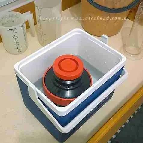 Water bath stand film development