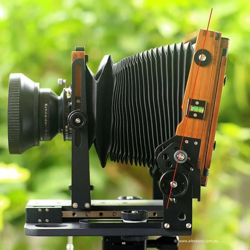 asymmetrical tilt large-format camera movements