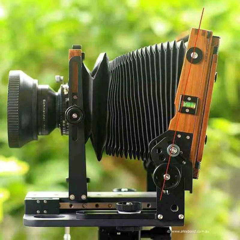 asymmetrical tilt large-format camera movements