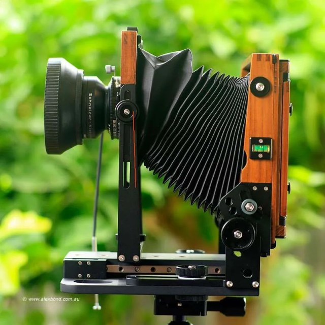 large-format camera movements lens rise Chamonix F2 4x5 camera
