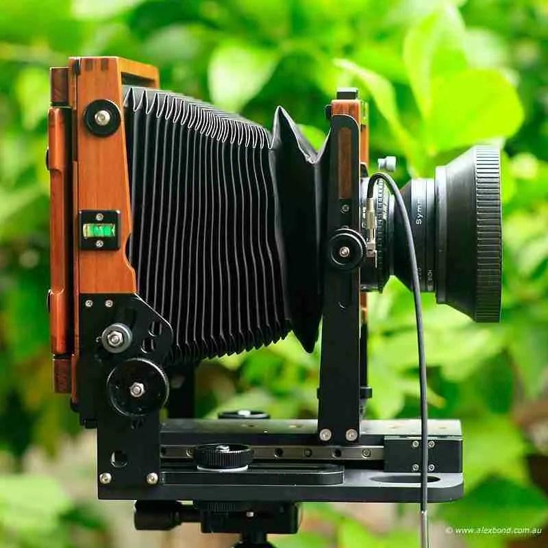 front rear standards chamonix 4x5 camera