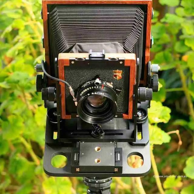 front large-format camera movements Chamonix