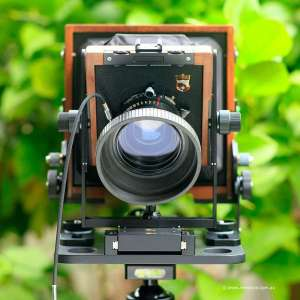 large-format camera movements front tilt
