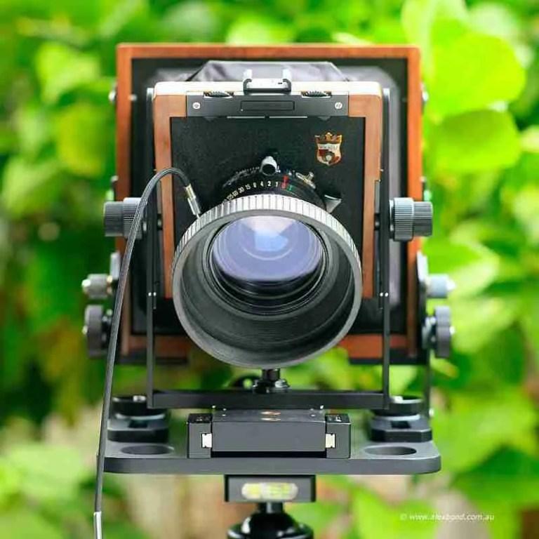 large-format camera movements front tilt