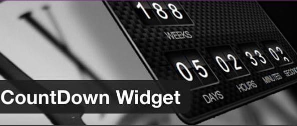 Plugin Countdown Widget de WordPress