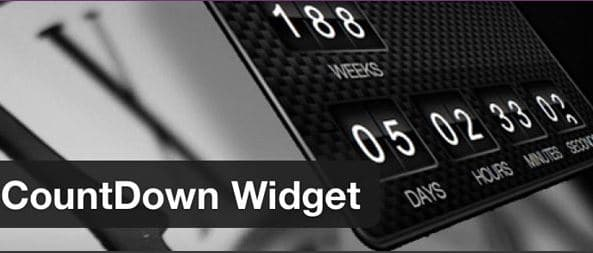 Plugin Countdown Widget de WordPress