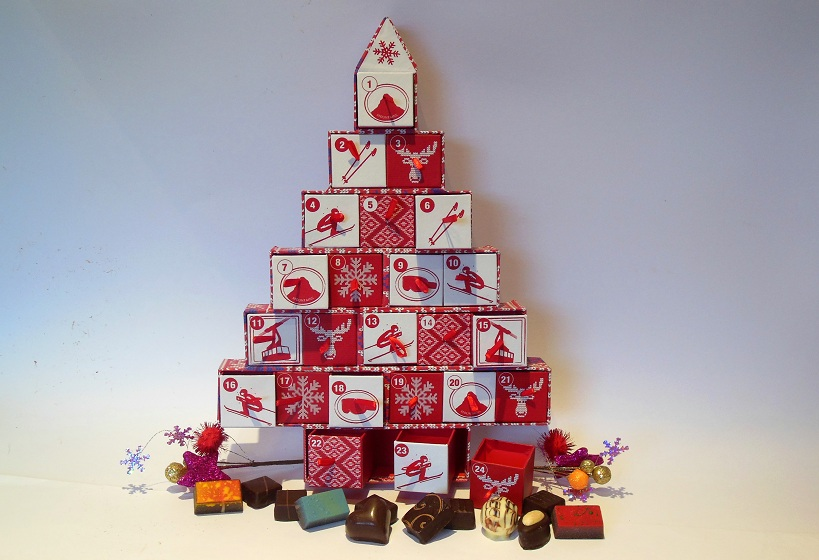 Alexeeva & Jones chocolate Advent calendar tree
