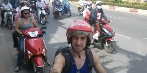 Me on a motorbike in Vietnam