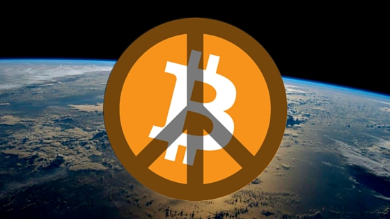 Bitcoin could bring peace on earth