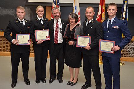 2014 Tri-Military Ceremony CU Boulder - Alex Gilmer Flight School Scholarship Recipients