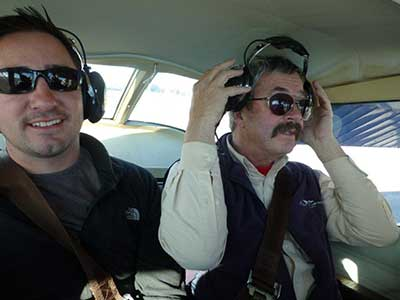 Todd and Geoff on the flight.
