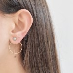 Earrings Mimi round hanging