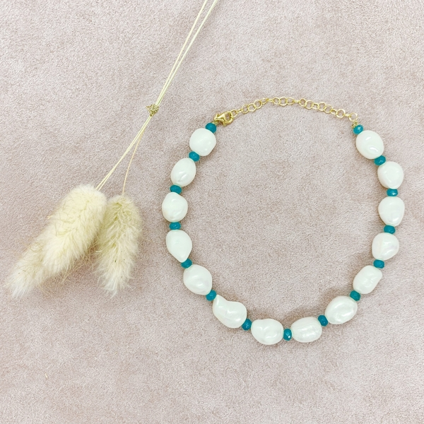 Anklet Bloom Maxi Turquoise