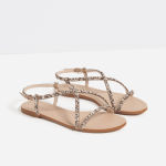Zara flat embellished sandals