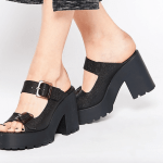 Miista chunky heeled leather mules