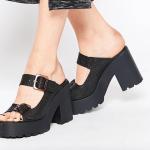 Miista chunky heeled leather mules