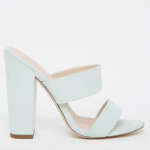 ASOS Mint green block heel mules