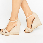 Call it Spring from ASOS nudge t-bar wedge sandals