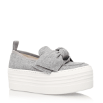 KG Kurt Geiger grey slip on flatform trainers