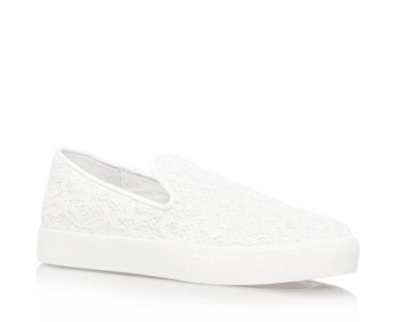ASH White lace slip on trainers
