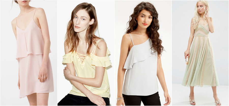 House Party Wear Spring Summer Pastels Fashion Top Dress