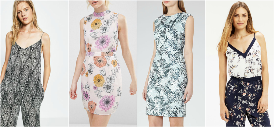 House Party Wear Spring Summer Print Floral Fashion Jumpsuit Dress