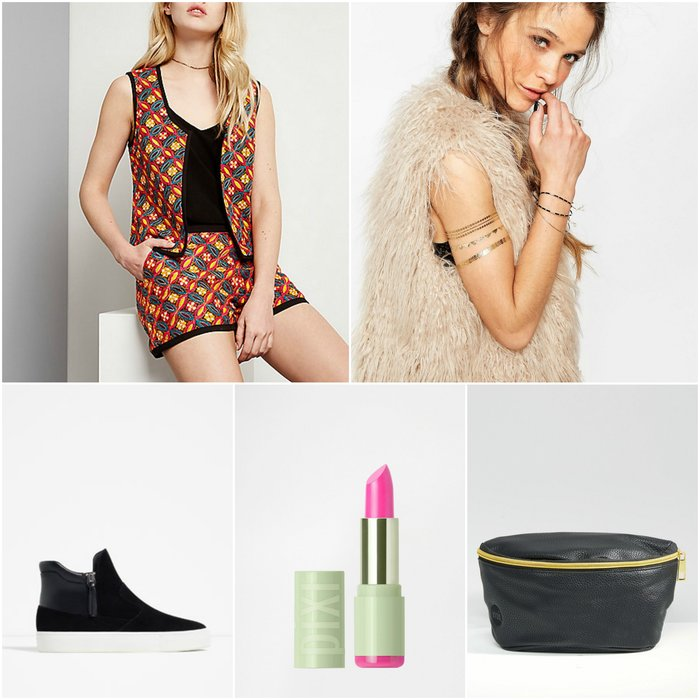 Womens Outfit Grid - What to Wear to an Outdoor Festival Outfit
