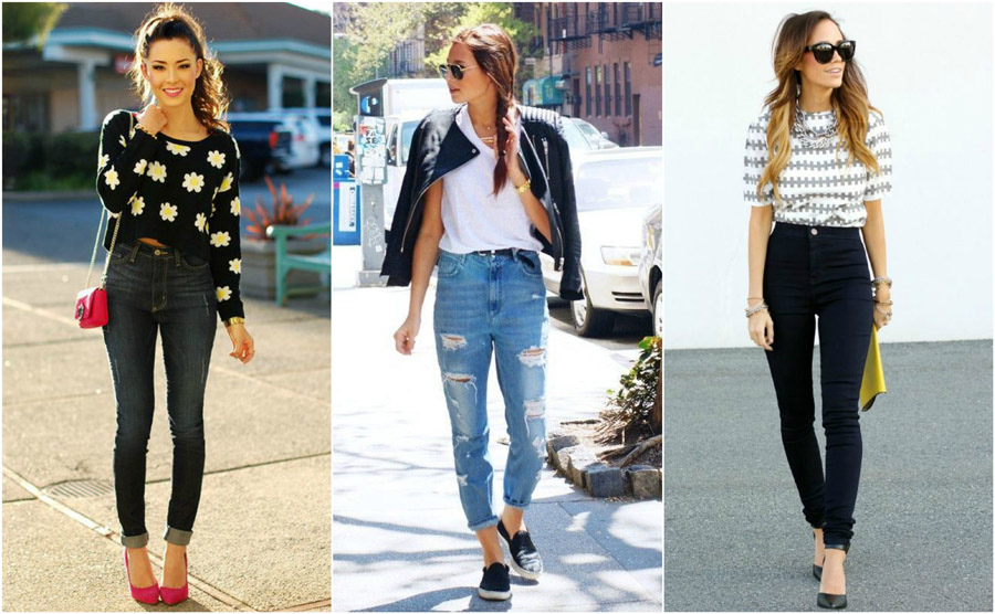 Casual Tee T-Shirt Sweater High Waist Jeans Style Fashion Women Guide Street Celebrity Outfit Inspiration