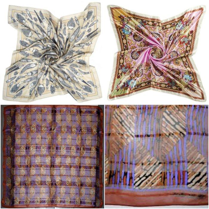 Silk Satin Chiffon Scarf Material