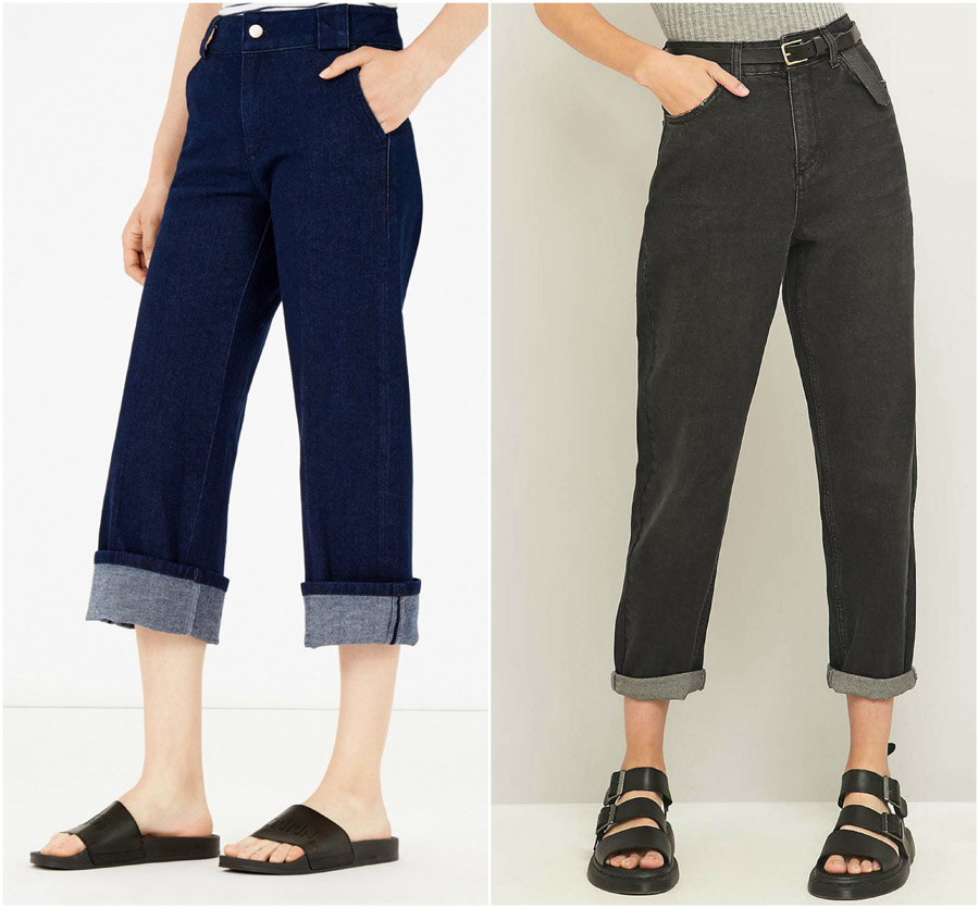Wide Leg High Waist Jeans Shop Grid Alexie 2