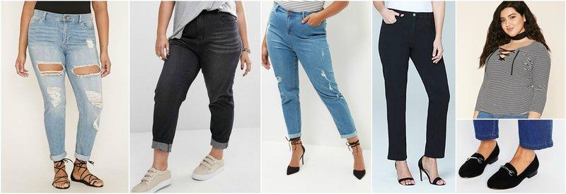 curvy women boyfriend jeans